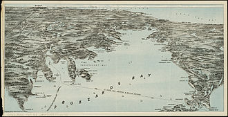 Buzzards Bay - Birds eye view map, 1909