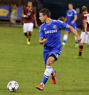 César Azpilicueta - Azpilicueta in action against Roma in 2013