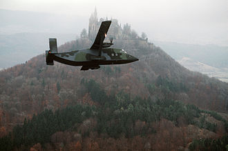 Short C-23 Sherpa - C-23A Sherpa at Hohenzollern Castle in the Black Forest in 1984