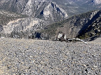 Mount Charleston - C-54 Plane Wreckage on Mount Charleston From Crash on November 17, 1955