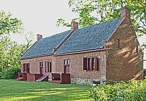 Columbia County Historical Society - c.1737 Luykas Van Alen House, Kinderhook, New York. Collection of the Columbia County Historical Society, acquired in 1964.