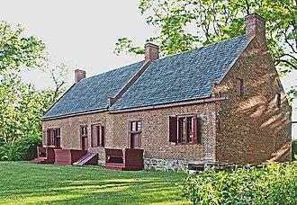 Columbia County Historical Society - c.1737 Luykas Van Alen House, Kinderhook, New York. Collection of the Columbia County Historical Society, acquired in 1964.