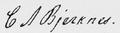 C. A. Bjerknes signature.png