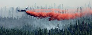 Modular Airborne FireFighting System - MAFFS I drop, Black Crater, Oregon, July 2006