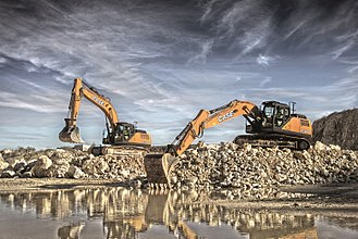 Case Construction Equipment - Case CX300D and CX370D crawler excavators.
