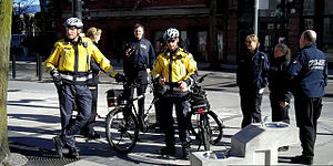 Canada Border Services Agency - CBSA officers and police in Vancouver