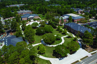 Coastal Carolina University - Framed by Blanton Park, the Edward M. Singleton Building was the first building on campus, built in 1963.