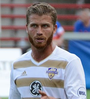 Guy Abend - Abend playing for Louisville City in 2017