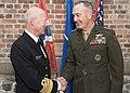 CJCS and Admiral Haakon Bruun-Hanssen, Norwegian Chief of Defence inspect Norwegian Honor Guard (37177585631).jpg