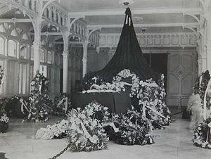 Kuta Raja - Coffin of A.P. van Aken in governor house of Aceh in Kotaraja