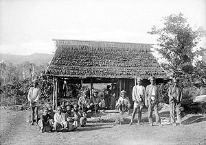 Buru people - Traditional Buru house of the early 1900s.
