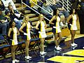 Cal Dance Team at 2008 Golden Bear Classic championship game 2.JPG