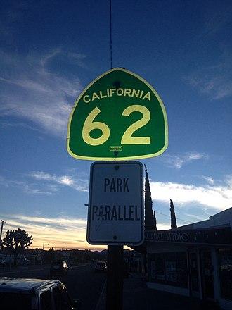 California State Route 62 - California Route 62 Marker
