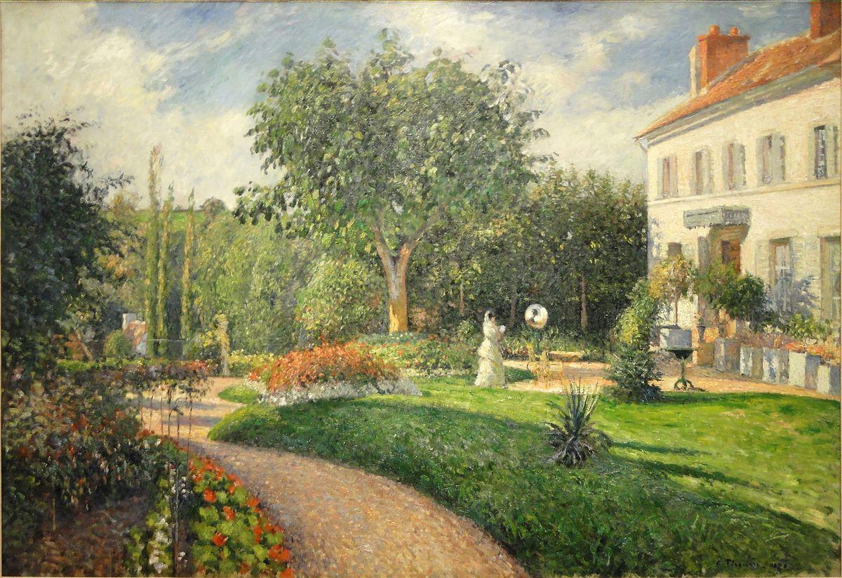 Camille Pissarro - Le Jardin des Mathurins, Pontoise, propriete des dames Deraismes, 1876 - Nelson-Atkins Museum of Art - 448.jpg