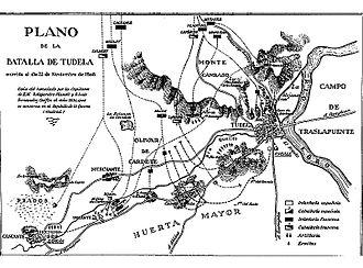 Battle of Tudela - Progress Plan of the Battle