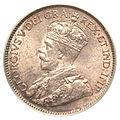 Canada Newfoundland George V 25 Cents 1917C (obv).jpg