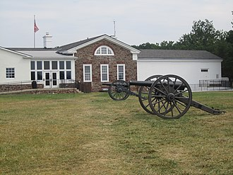 Manassas National Battlefield Park - Cannon at Manassas Battlefield