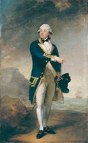 John Gell (Royal Navy officer) - The 1785 portrait by Gilbert Stuart.
