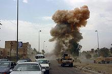 Bilbomb i mosul i irak