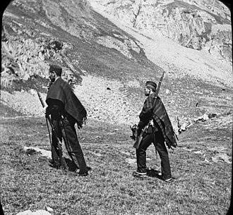 Carabinier - Spanish Carabiniers in the Pyrenees, 1892.