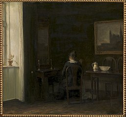 Interior with the Artist's Wife Emilie Heise