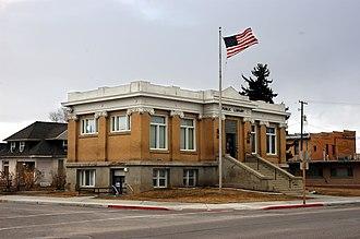 Garland, Utah - Carnegie Library in Garland, March 2010