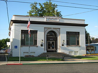 Yreka, California - Yreka's Carnegie Library, designed by W. H. Weeks is currently used for their police department.