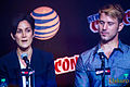 Carrie-Anne Moss and Wil Traval October 2015.jpg