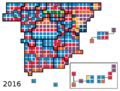 Cartogram of the Spanish Congress, election 2016.png