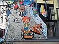 Cartoon auf einer Hausfassade in Brüssel (Belgien) 2.jpg