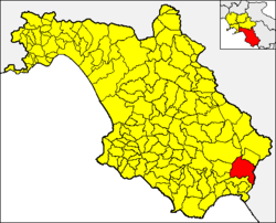 Casaletto Spartano within the Province of Salerno