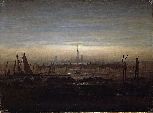 Caspar David Friedrich - Greifswald in Moonlight - Google Art Project