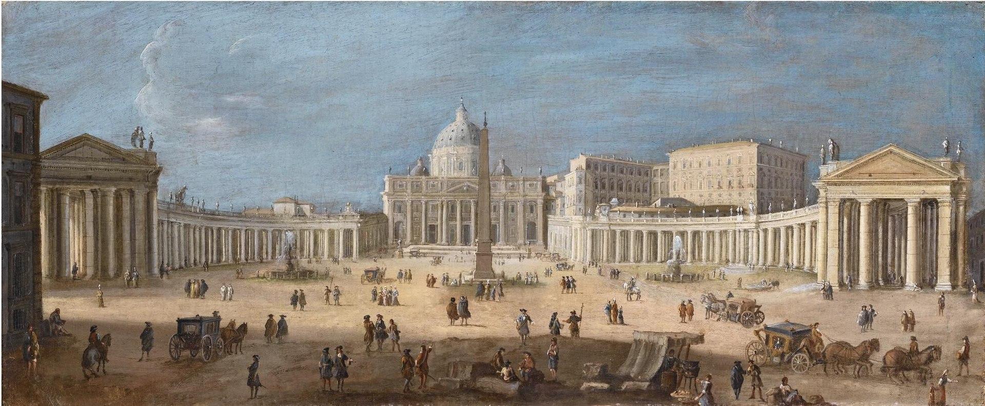 Каспар ван Виттель - Вид на площадь Святого Питера, Рим N08516-225-lr-1.jpg