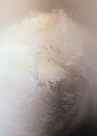 Planum Australe - Image: Casquete Polar Sur