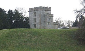 Newton St Loe Castle - Image: Castle Keep in Newton St. Loe College geograph.org.uk 642177 cropped