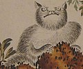Cat art detail, from- Leaf from an album of six leaves by Shibata Zeshin, c. 1873-91,Honolulu Museum of Art, 5095.1a-f (cropped).JPG