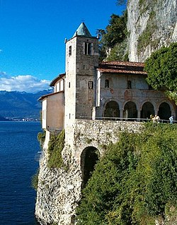 Hermitage of Santa Caterina del Sasso, at Reno.