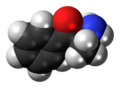 Cathinone molecule spacefill.png