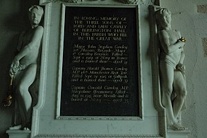 Frederick Cawley, 1st Baron Cawley - Memorial to the Cawley brothers in St Peter and St Paul, Eye, Herefordshire