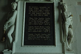 Oswald Cawley - Memorial to the Cawley brothers in St Peter and St Paul Church, Eye, Herefordshire