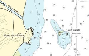 Cayo Batata - Nautical Chart of Cayo Batata area