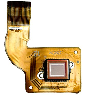Image sensor - A CCD image sensor on a flexible circuit board