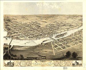 City of Cedar Rapids, Iowa, United States, cir...