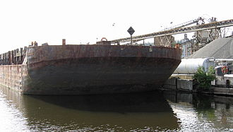 Kenmore, Washington - Cement barge offloading at Kenmore Ready-Mix