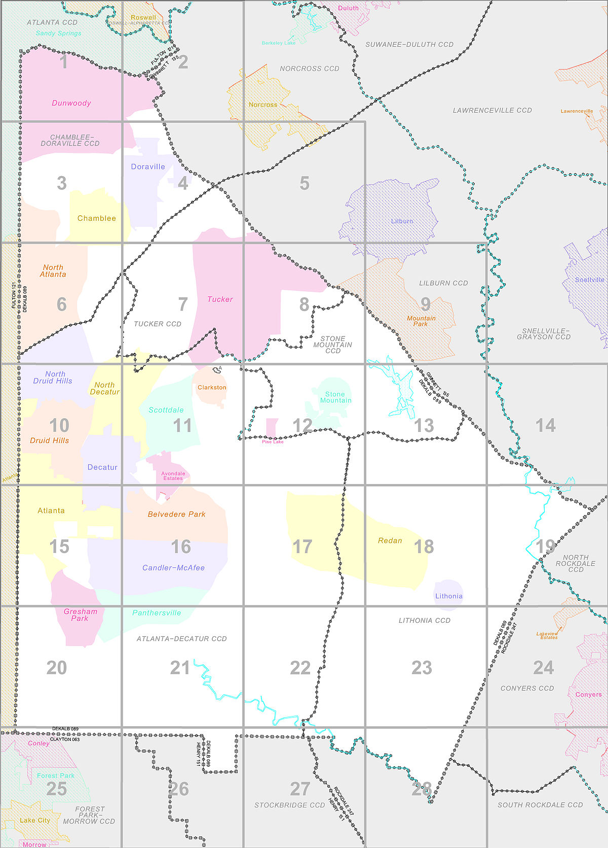 Dekalb Zip Code Map.Census County Division Wikipedia