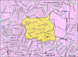 Fair Lawn, New Jersey - Image: Census Bureau map of Fair Lawn, New Jersey