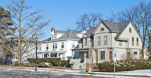 National Register of Historic Places listings in Bay County, Michigan - Image: Center Avenue Neighborhood Residential District Bay City MI D
