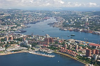 North Asia - Image: Center of Vladivostok and Zolotoy Rog