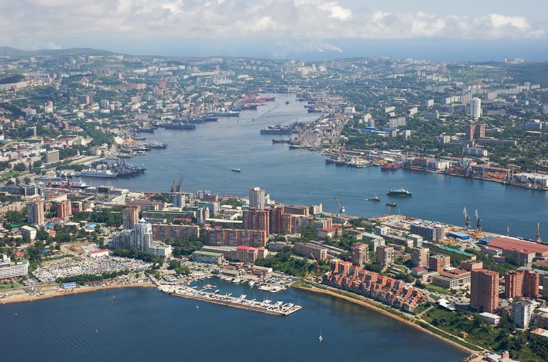 Center of Vladivostok and Zolotoy Rog