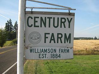Century Farm - A century farm sign in Oregon, United States